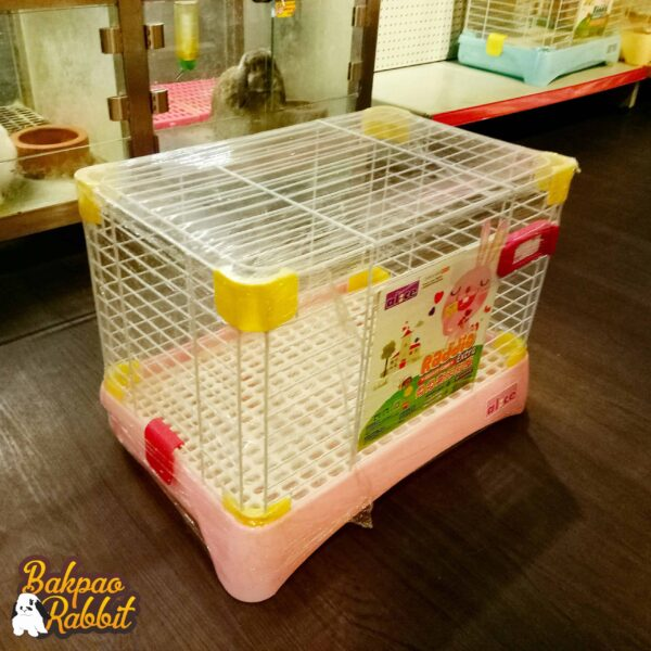 Toko Kelinci Bakpao Rabbit Alice AE26 Raddio Extra Rabbit Cage Medium Pink