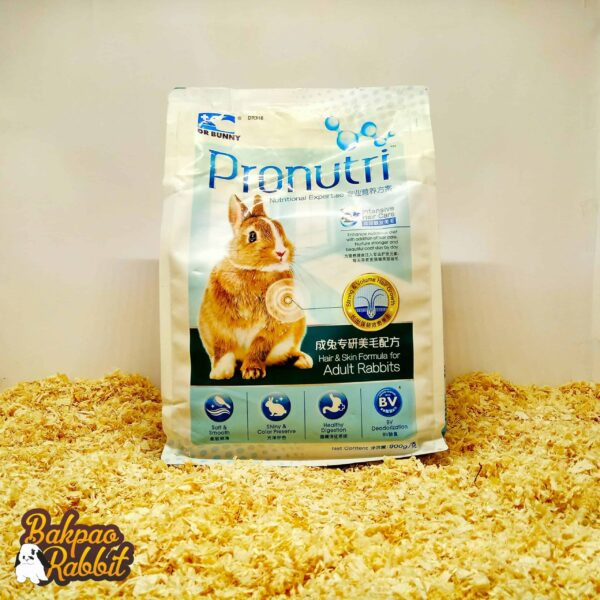 Toko Kelinci Bakpao Rabbit Dr Bunny DR316 Pronutri Hair & Skin Formula For Adult Rabbits 900g