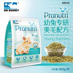 Toko Kelinci Bakpao Rabbit Dr Bunny DR318 Pronutri Hair & Skin Formula For Young Rabbits 900g