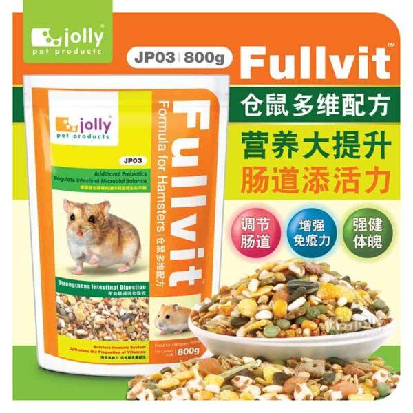 Toko Kelinci Bakpao Rabbit Jolly JP03 Fullvit Formula for Hamsters 800g