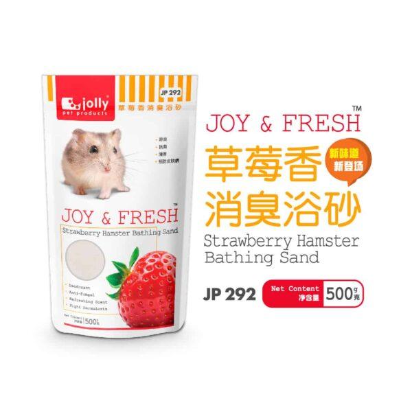 Toko Kelinci Bakpao Rabbit Jolly JP292 Joy & Fresh Strawberry Hamster Bathing Sand 500g